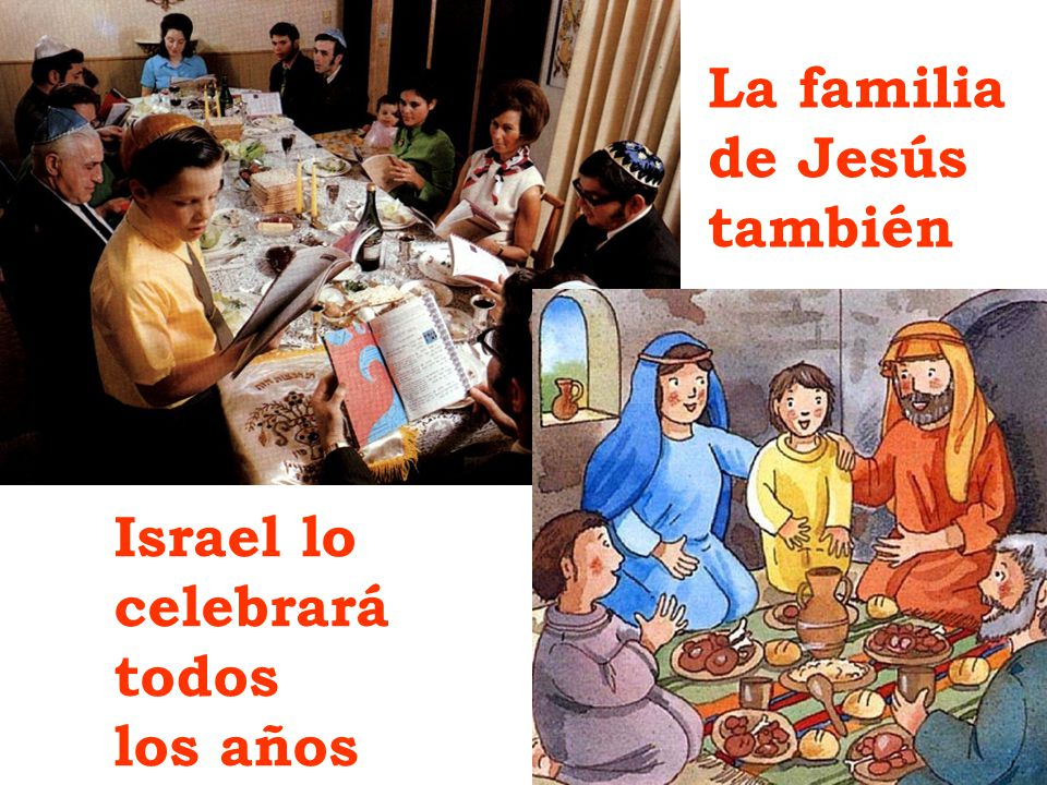 La familia de Jesús también Israel lo celebrará todos los años
