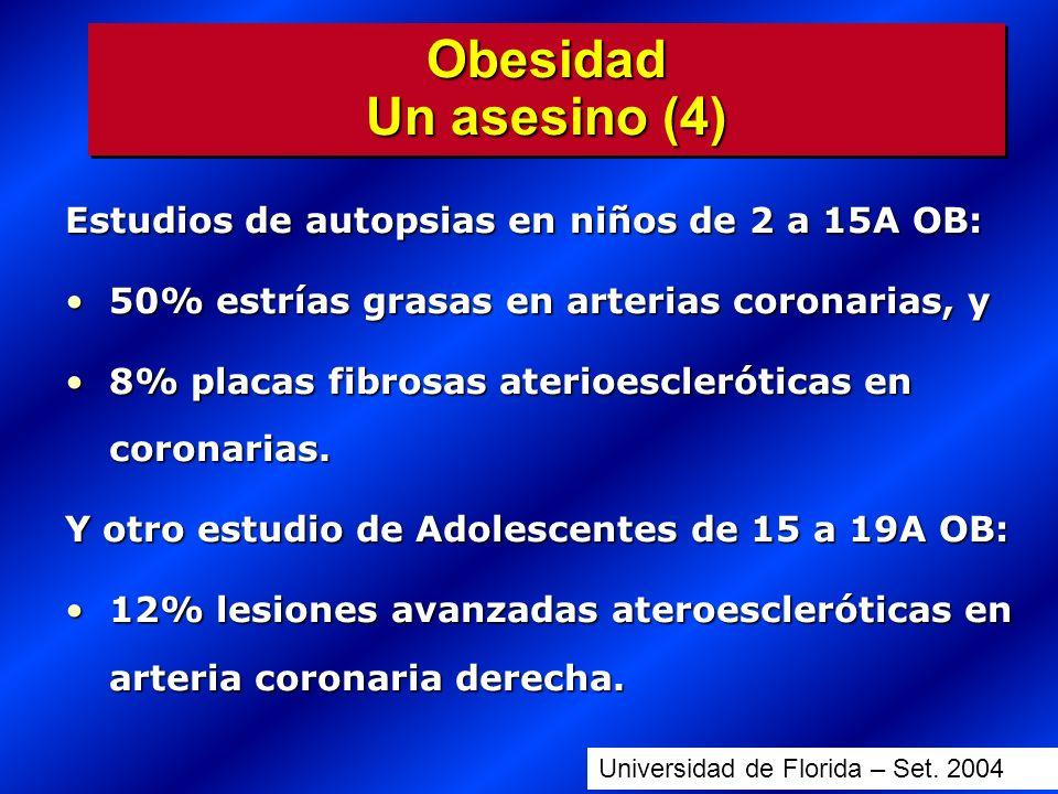 Obesidad Un asesino (4) Estudios de autopsias en niños de 2 a 15A OB: