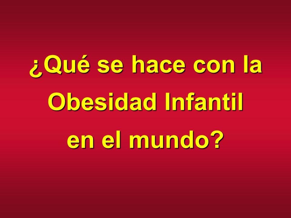¿Qué se hace con la Obesidad Infantil en el mundo