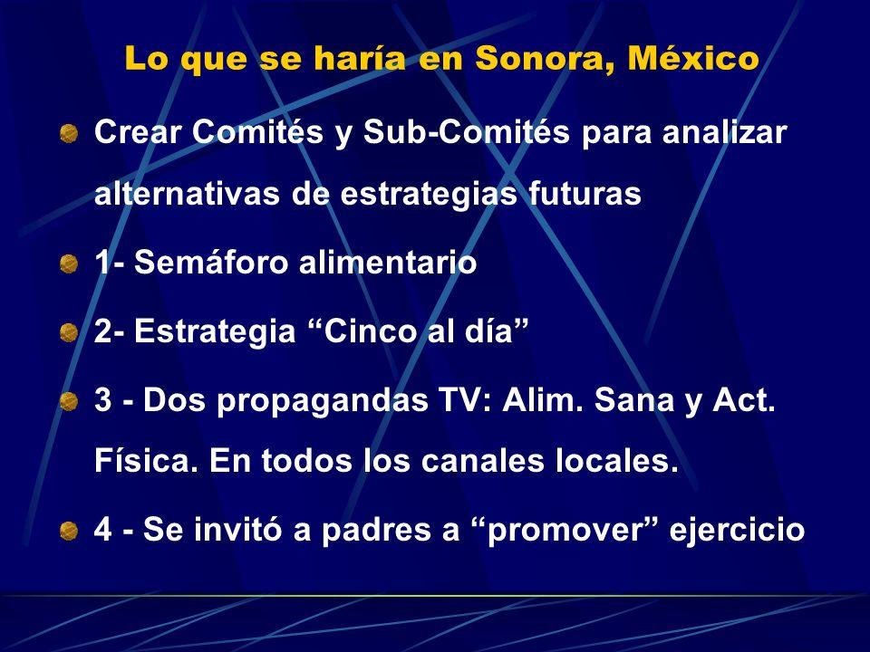 Lo que se haría en Sonora, México