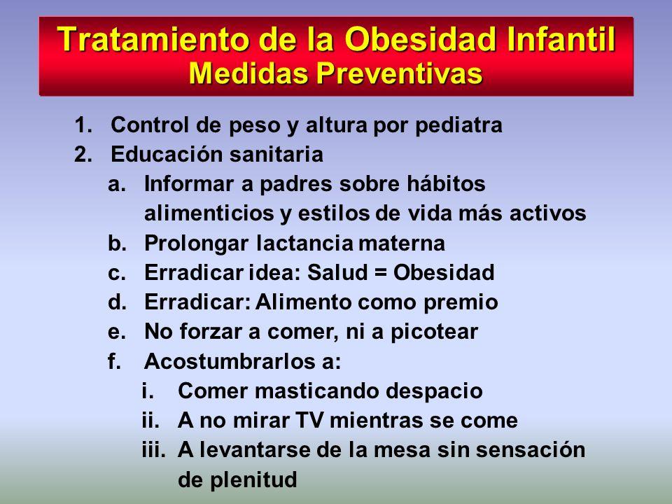 Tratamiento de la Obesidad Infantil Medidas Preventivas