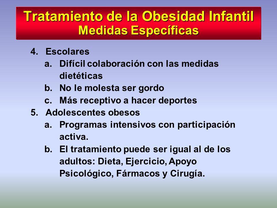 Tratamiento de la Obesidad Infantil Medidas Específicas