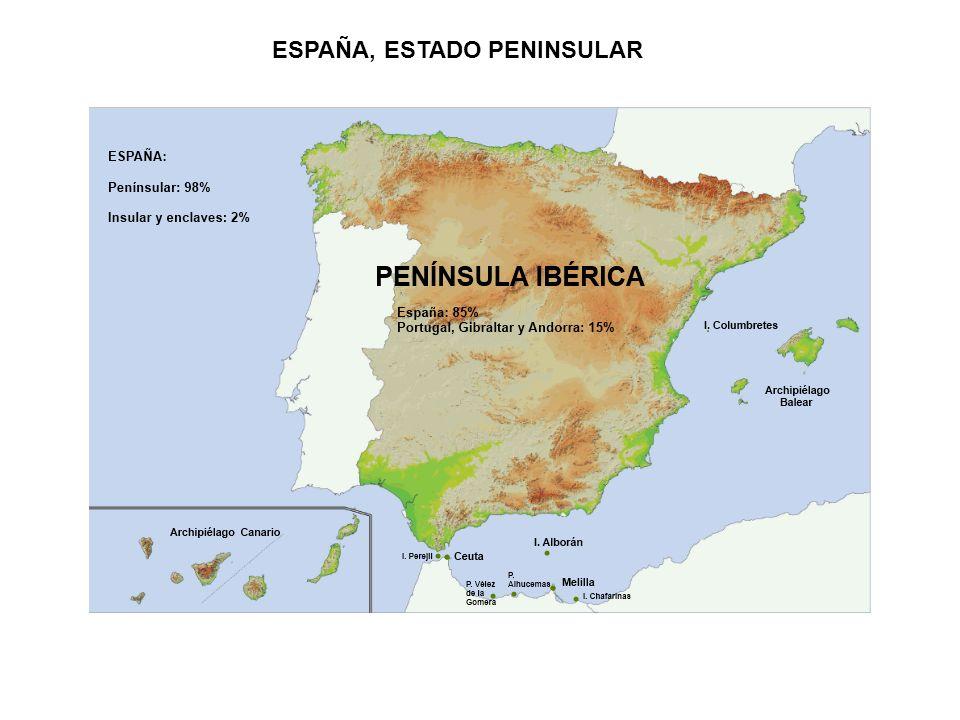 ESPAÑA, ESTADO PENINSULAR