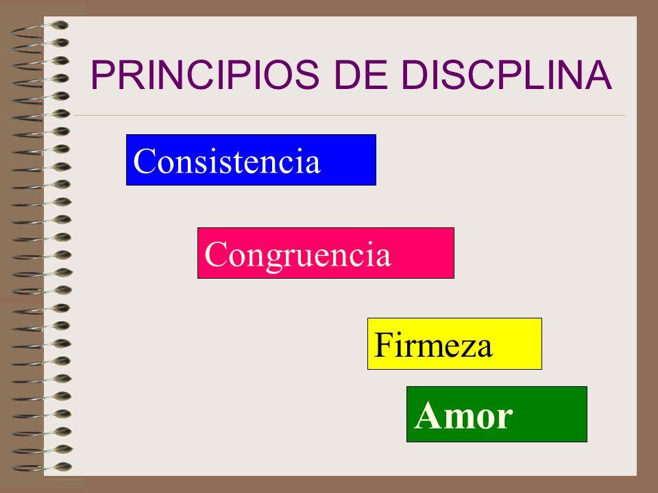 PRINCIPIOS DE DISCPLINA