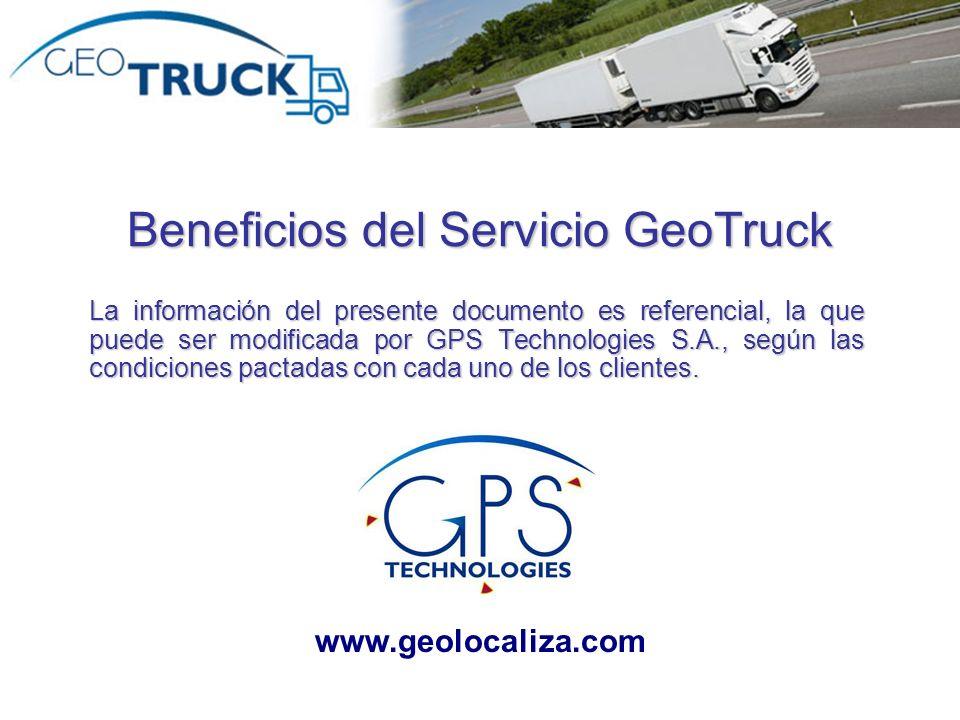 Beneficios del Servicio GeoTruck