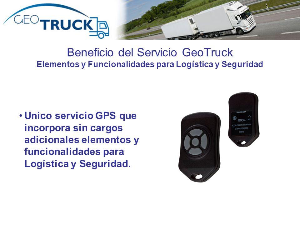 Beneficio del Servicio GeoTruck Elementos y Funcionalidades para Logística y Seguridad