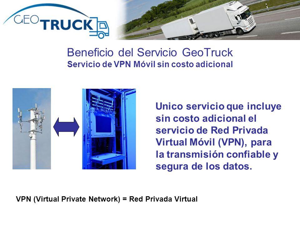Beneficio del Servicio GeoTruck Servicio de VPN Móvil sin costo adicional