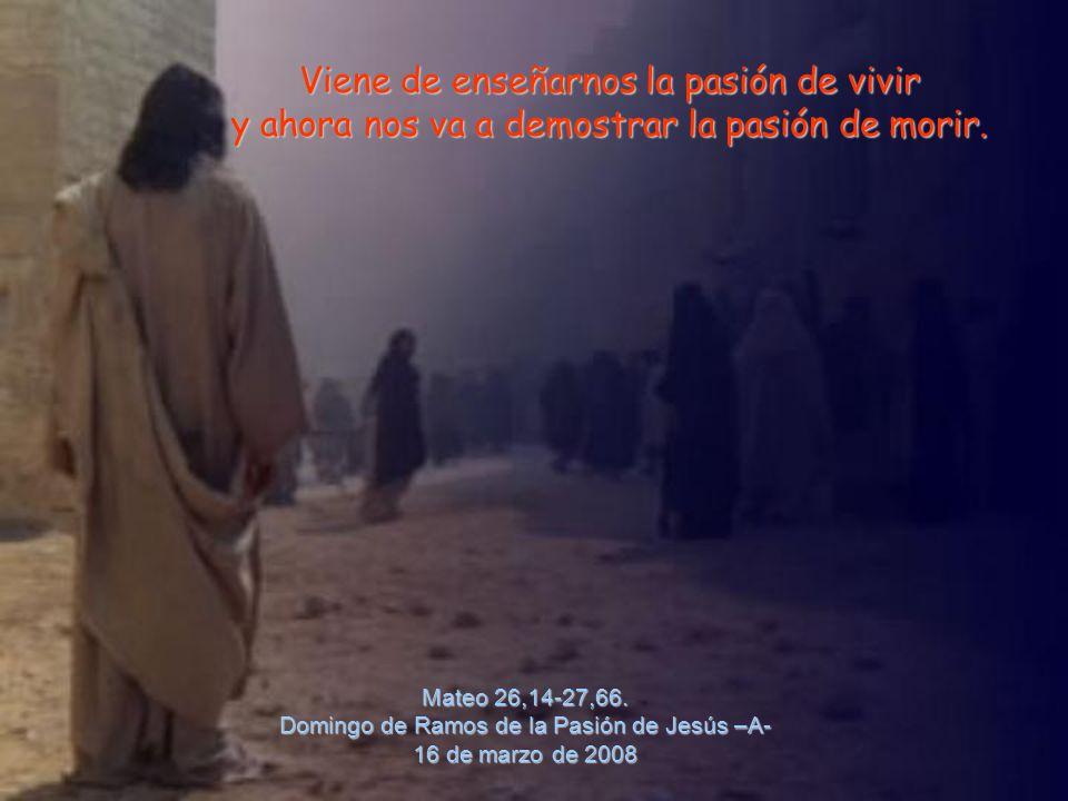 Mateo 26,14-27,66. Domingo de Ramos de la Pasión de Jesús –A-