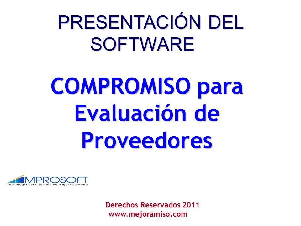COMPROMISO para Evaluación de Proveedores