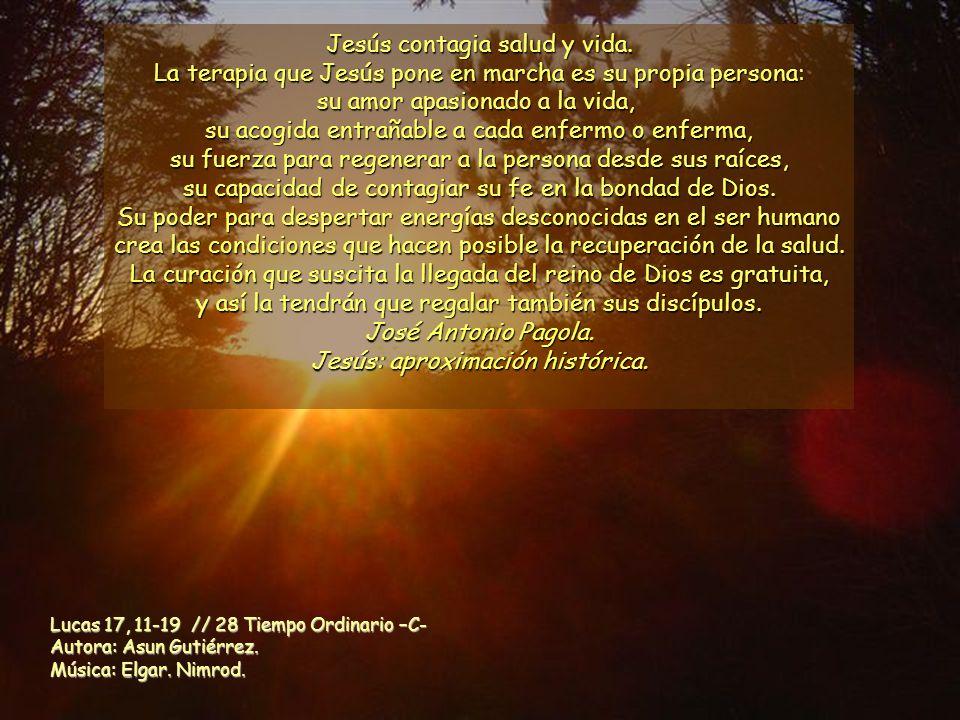 Jesús contagia salud y vida.