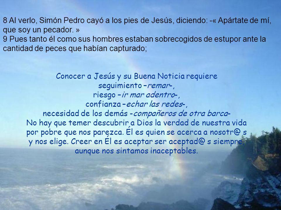 Conocer a Jesús y su Buena Noticia requiere seguimiento –remar-,