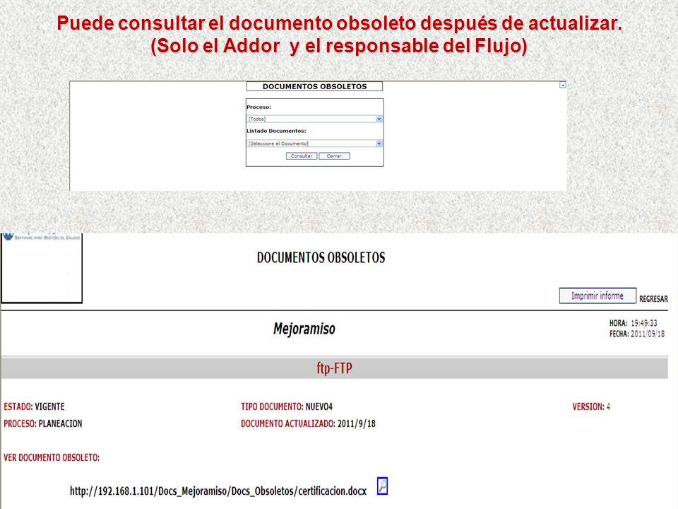 Puede consultar el documento obsoleto después de actualizar