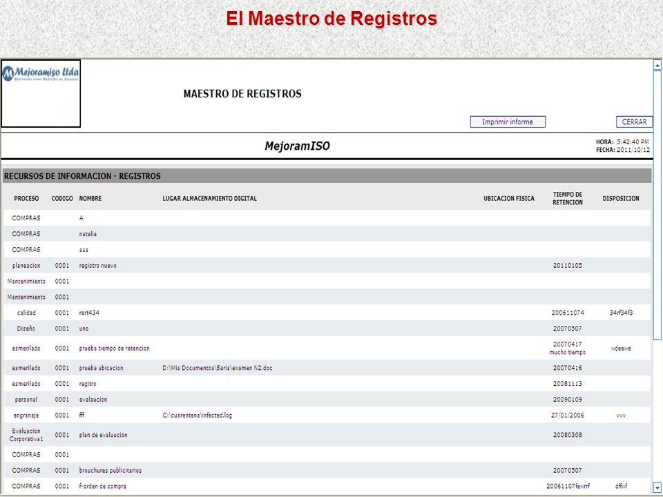 El Maestro de Registros