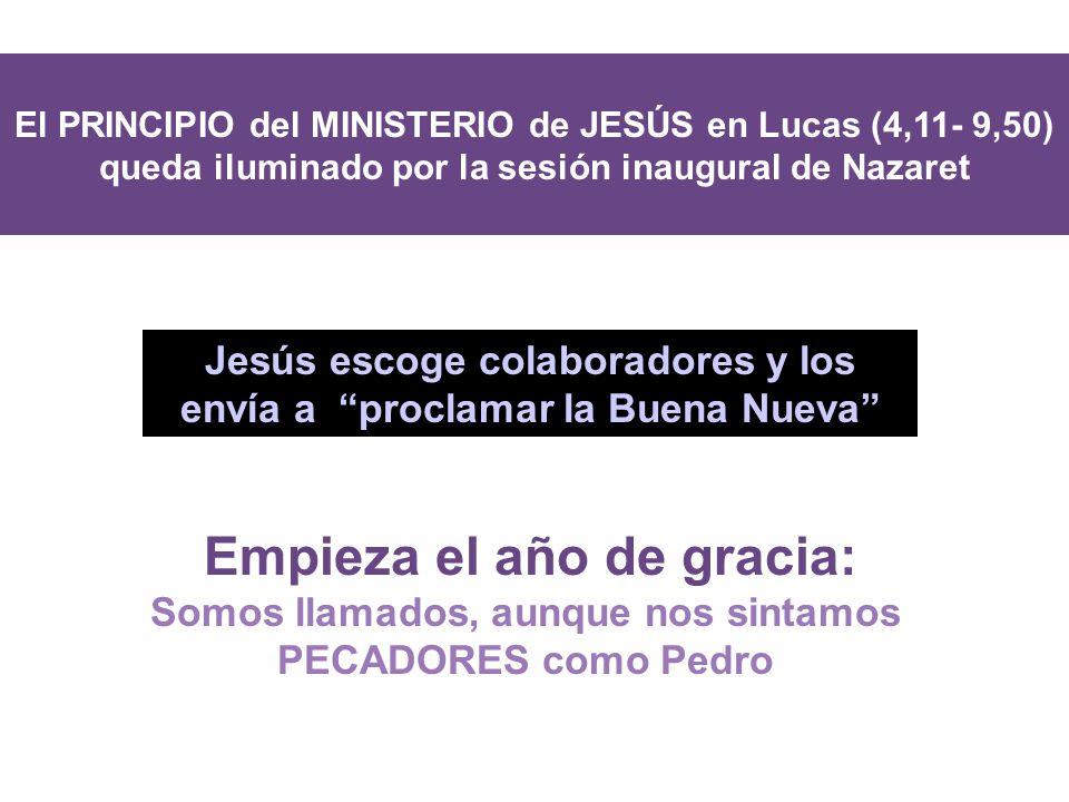 Jesús escoge colaboradores y los envía a proclamar la Buena Nueva