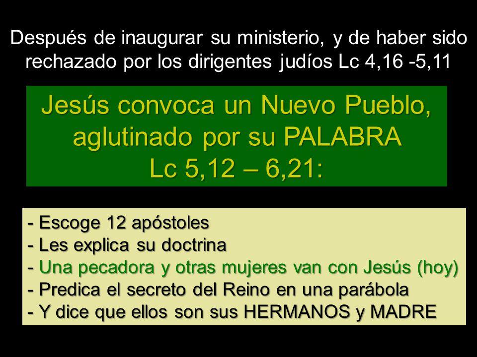 Jesús convoca un Nuevo Pueblo, aglutinado por su PALABRA