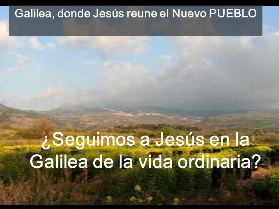 ¿Seguimos a Jesús en la Galilea de la vida ordinaria