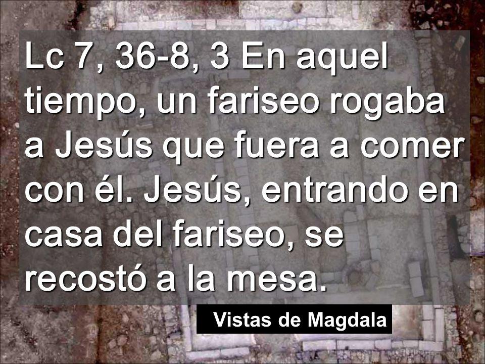Lc 7, 36-8, 3 En aquel tiempo, un fariseo rogaba a Jesús que fuera a comer con él. Jesús, entrando en casa del fariseo, se recostó a la mesa.