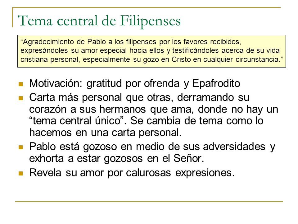 Tema central de Filipenses