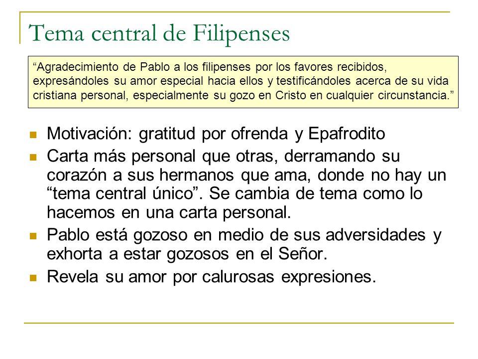 Tema central de Filipenses