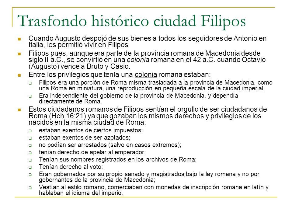 Trasfondo histórico ciudad Filipos