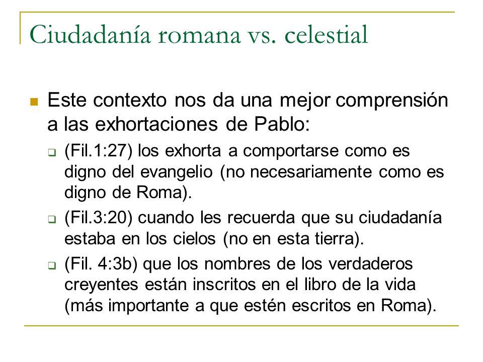 Ciudadanía romana vs. celestial