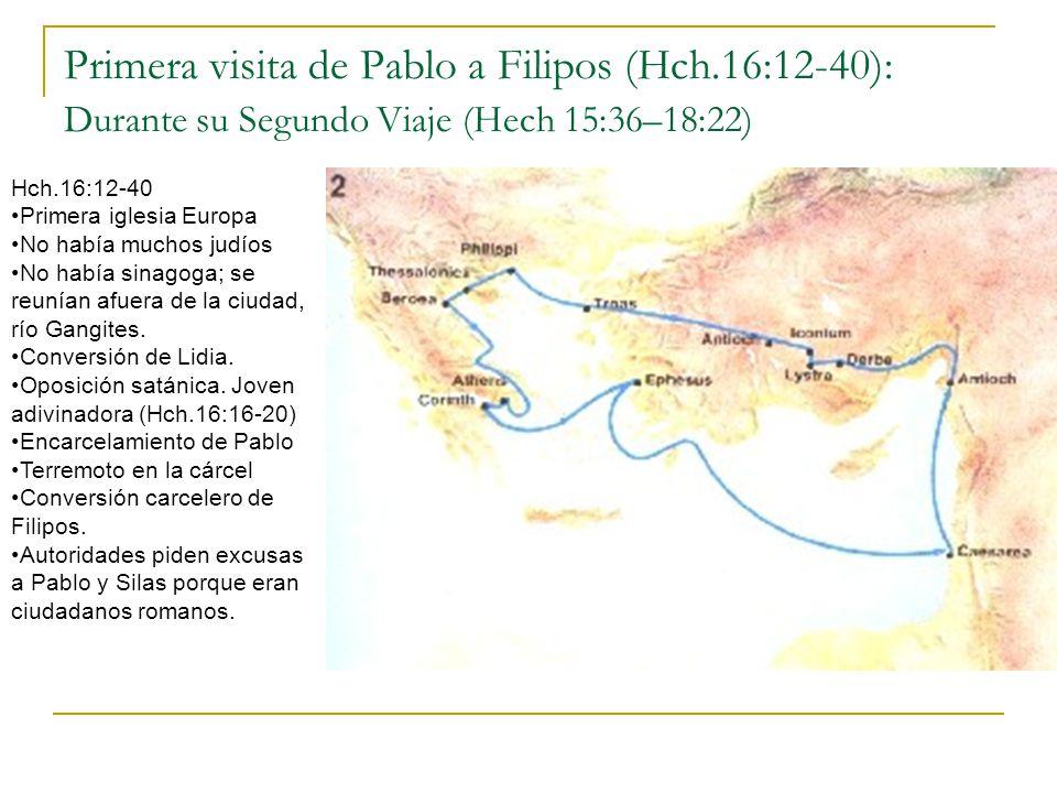Primera visita de Pablo a Filipos (Hch