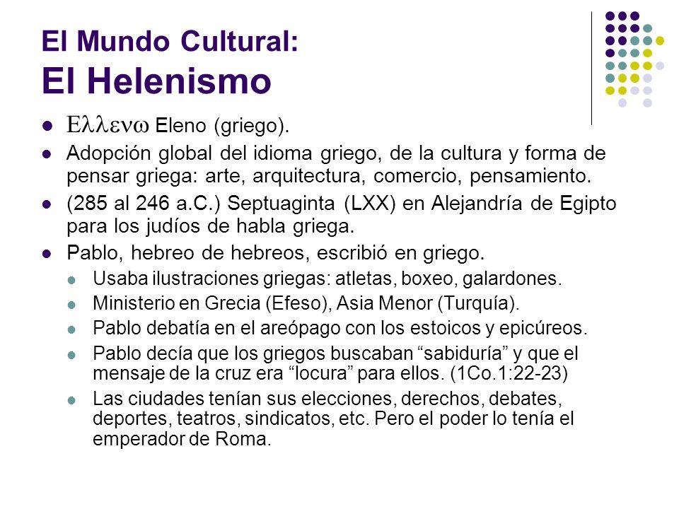 El Mundo Cultural: El Helenismo