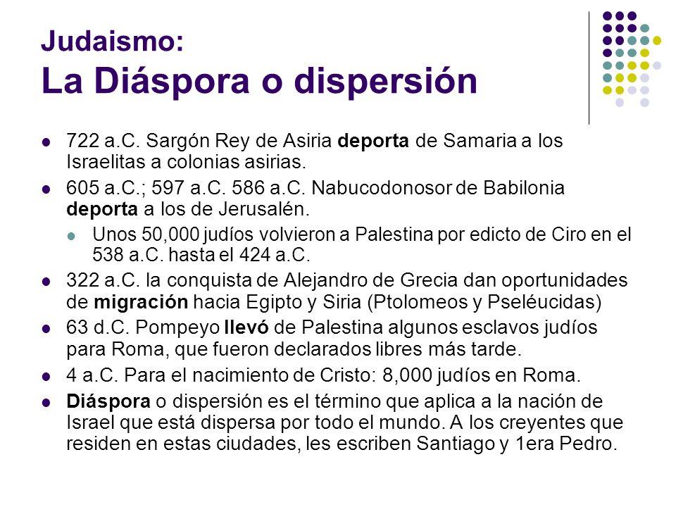 Judaismo: La Diáspora o dispersión