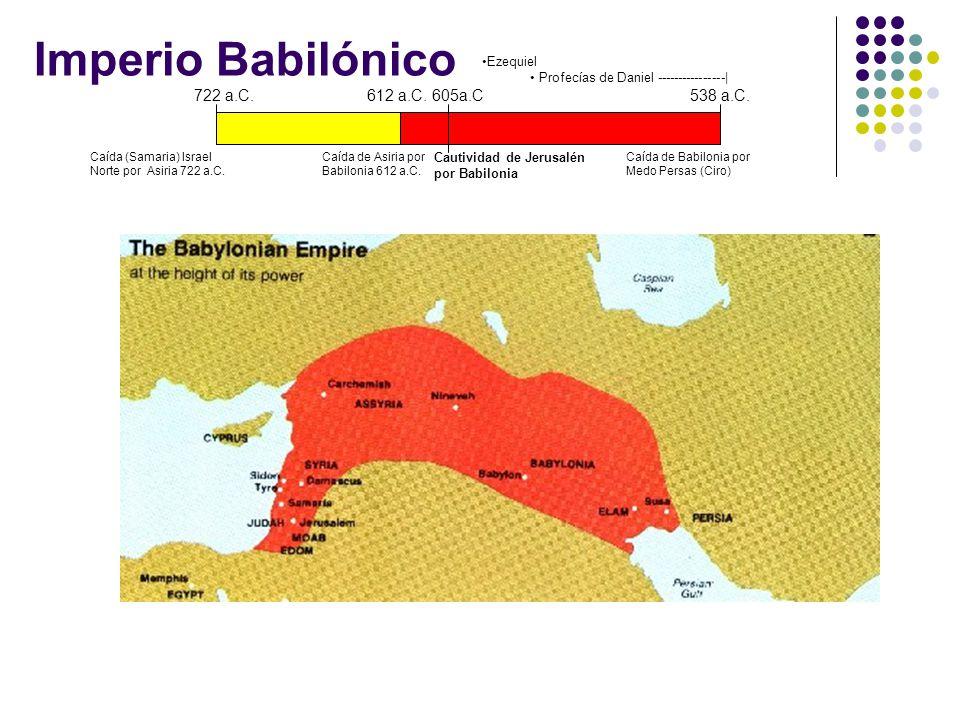 Imperio Babilónico 722 a.C. 612 a.C. 605a.C 538 a.C. Ezequiel