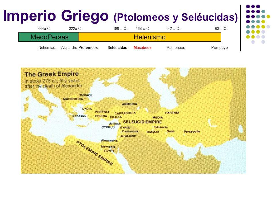 Imperio Griego (Ptolomeos y Seléucidas)