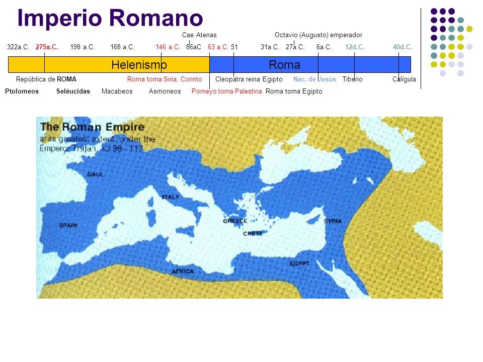 Imperio Romano Helenismo Roma Cae Atenas Octavio (Augusto) emperador