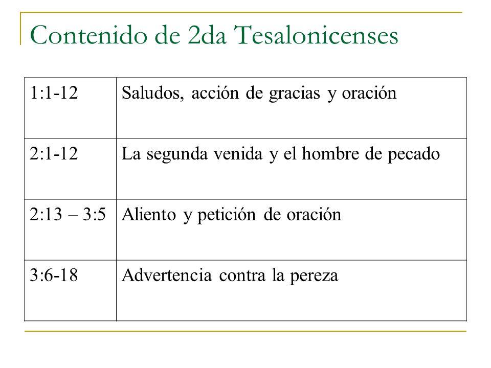 Contenido de 2da Tesalonicenses