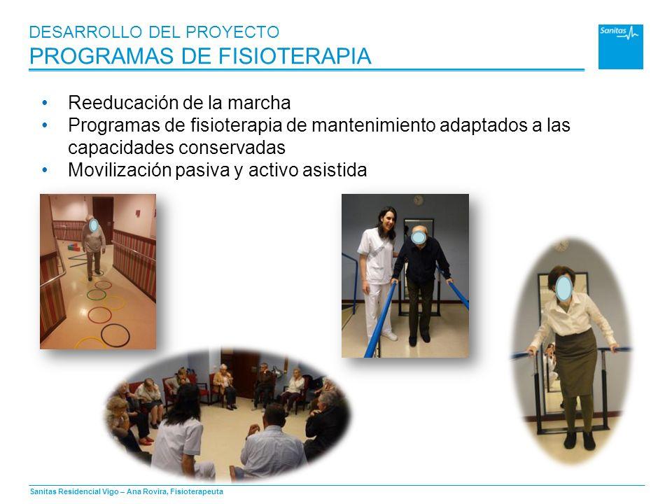 DESARROLLO DEL PROYECTO PROGRAMAS DE FISIOTERAPIA