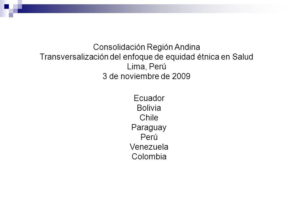 Ecuador Bolivia Chile Paraguay Perú Venezuela
