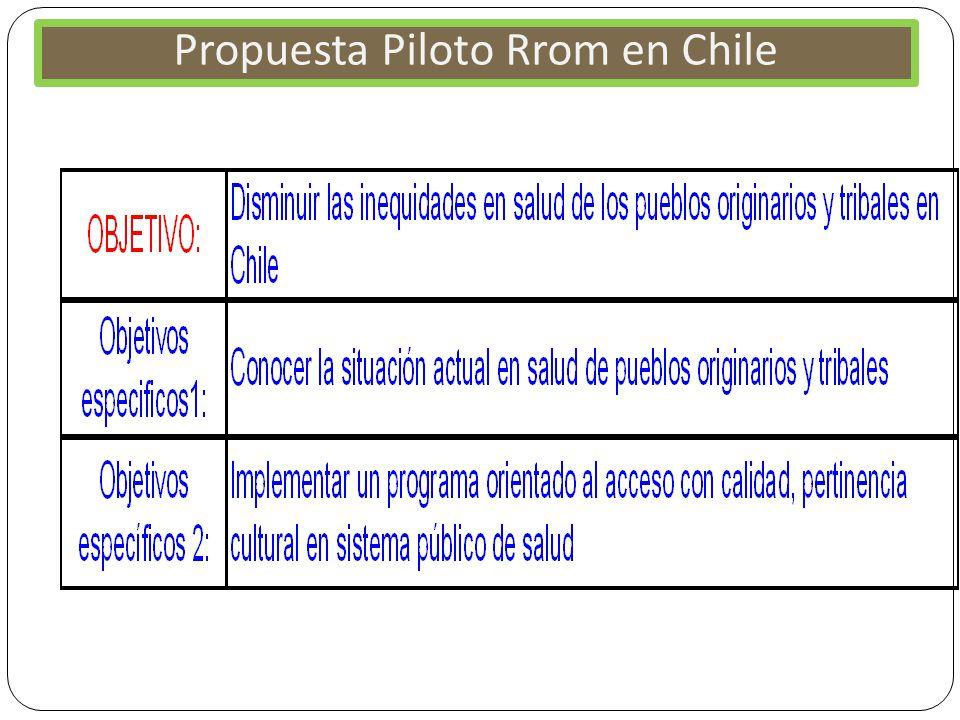 Propuesta Piloto Rrom en Chile