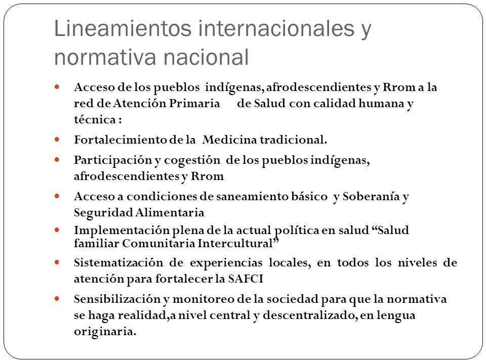 Lineamientos internacionales y normativa nacional
