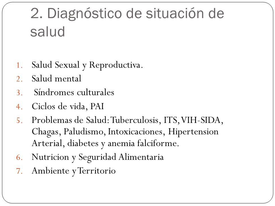 2. Diagnóstico de situación de salud