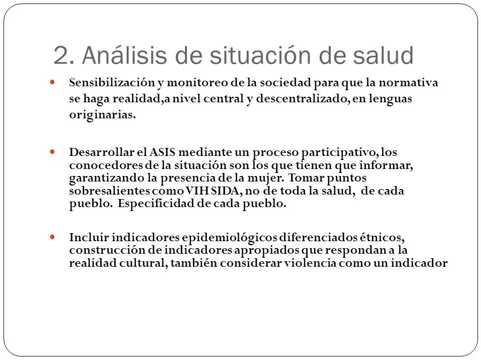 2. Análisis de situación de salud