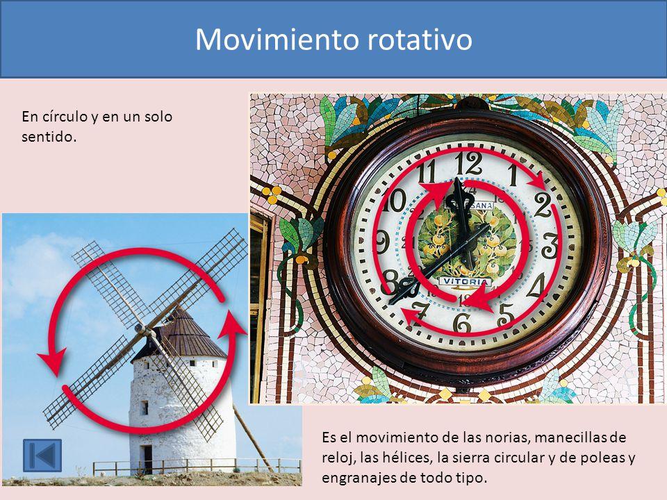 Movimiento rotativo En círculo y en un solo sentido.