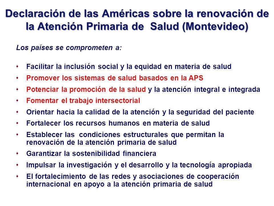 Declaración de las Américas sobre la renovación de la Atención Primaria de Salud (Montevideo)