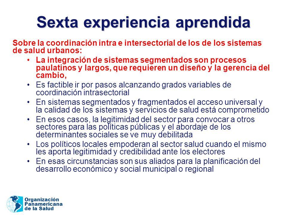 Sexta experiencia aprendida