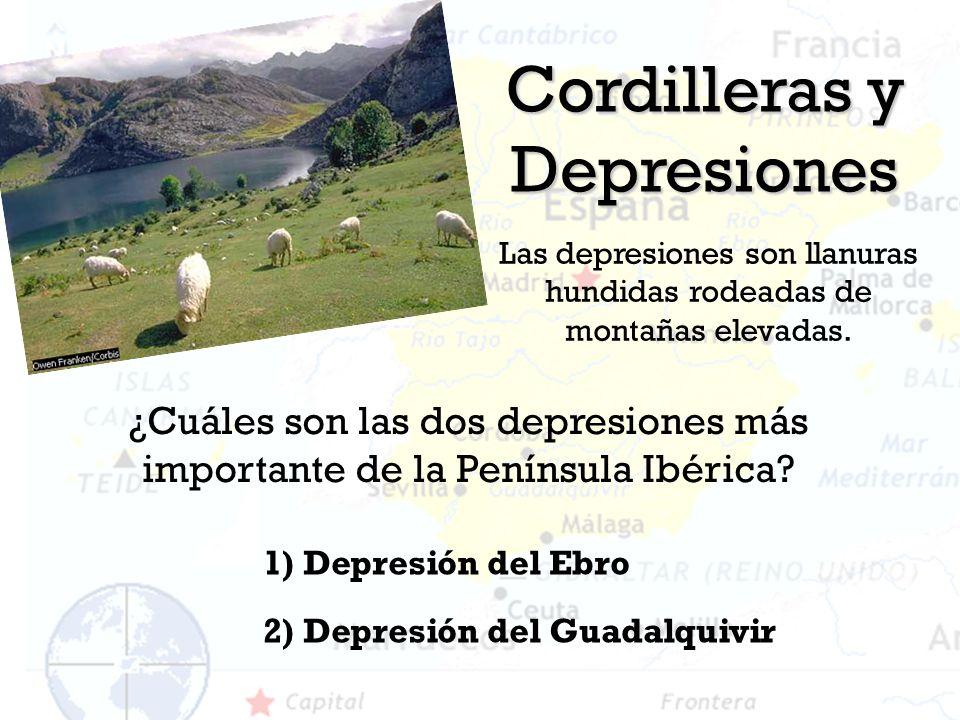 Cordilleras y Depresiones