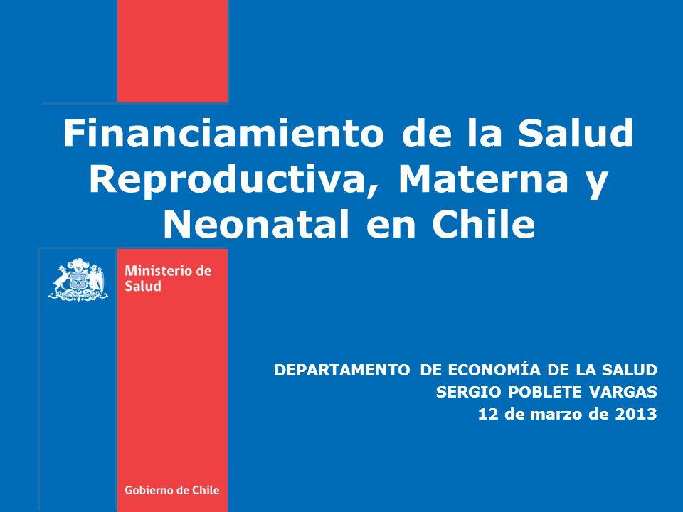 Financiamiento de la Salud Reproductiva, Materna y Neonatal en Chile