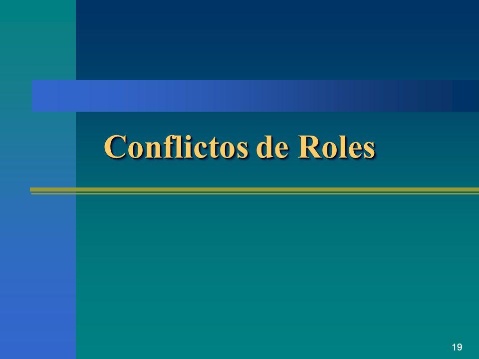Conflictos de Roles
