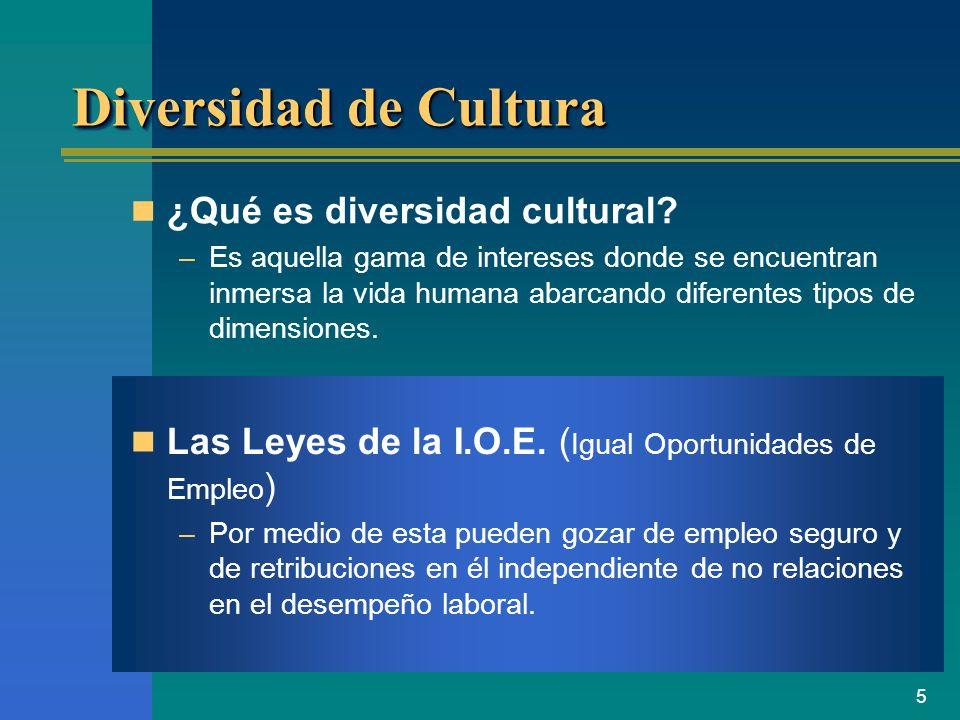 Diversidad de Cultura ¿Qué es diversidad cultural