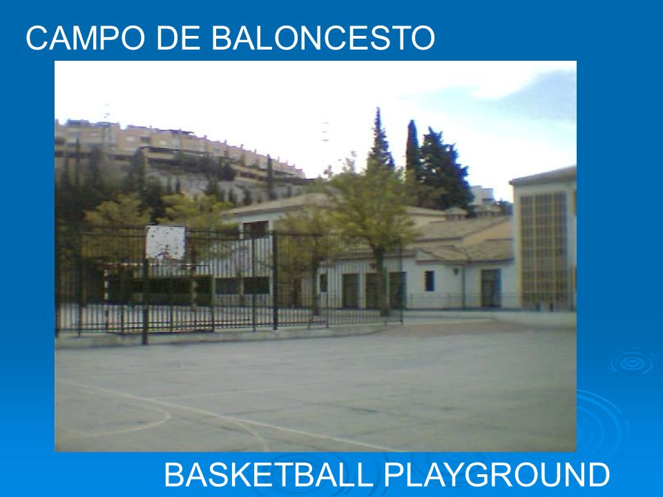 CAMPO DE BALONCESTO BASKETBALL PLAYGROUND