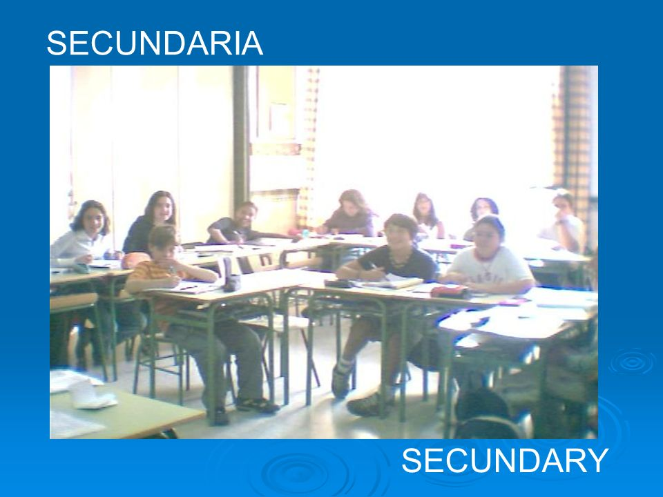 SECUNDARIA SECUNDARY