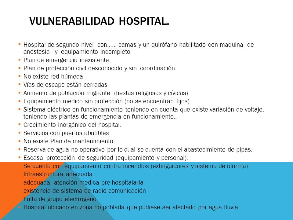 Vulnerabilidad hospital.