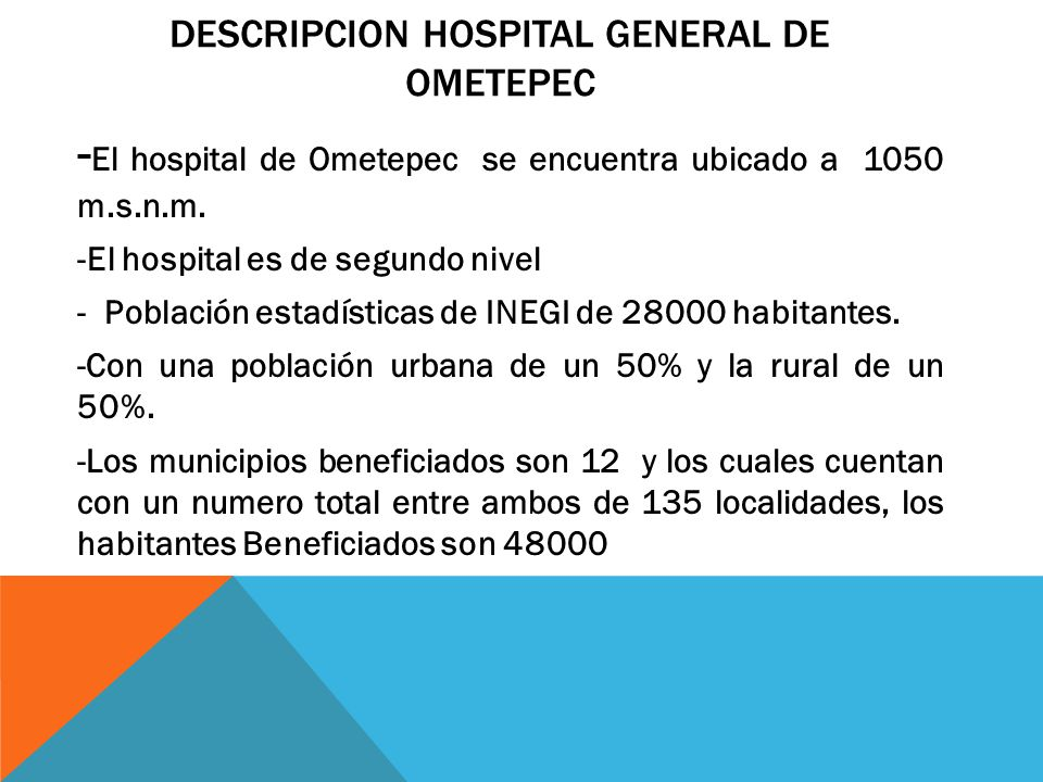 DESCRIPCION Hospital general de ometepec