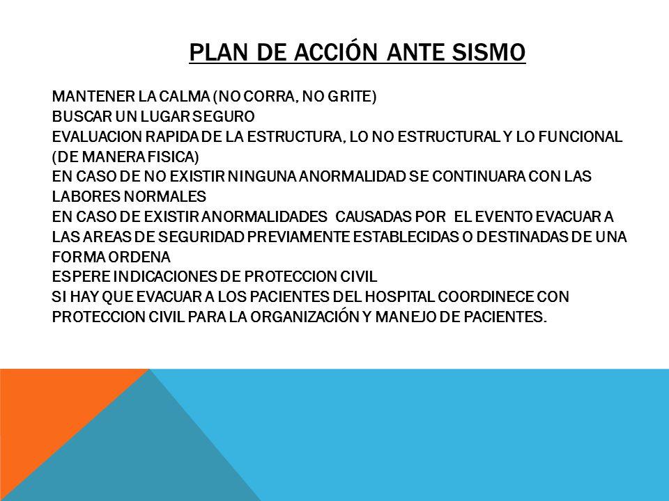 Plan de acción ante sismo